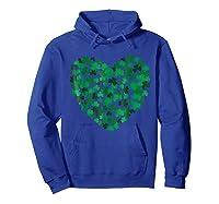 Happy Saint Patrick S Day Shamrock Heart T Shirt Hoodie Royal Blue
