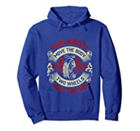 Biker Dad Gift Fathers Day Motorcycles Two Wheels Move Soul Tank Top Shirts Hoodie Royal Blue