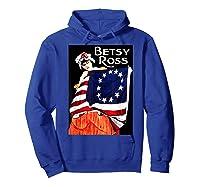 Usa Betsy Ross American Flag Shirt Art 13 Original Colonies T Shirt Hoodie Royal Blue