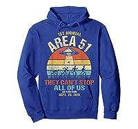 Area 51 5k Fun Run Shirt. Retro Style Funny Ufo, Alien T-shirt Hoodie Royal Blue