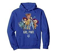 Disney Pixar Toy Story 4 Grl Pwr Distressed T-shirt Hoodie Royal Blue