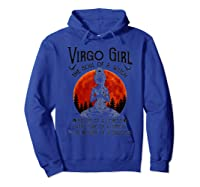 Virgo Girl The Soul Of A Witch Tshirt Yoga Lover Gift Tee Hoodie Royal Blue