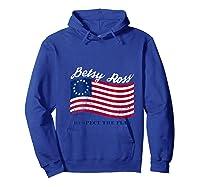 Usa Vintage Betsy Ross American Flag Shirt Art 13 Stars Flag T Shirt Hoodie Royal Blue