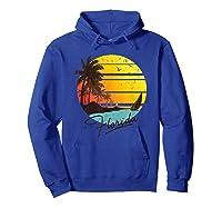 Florida Sunshine State Retro Summer Tropical Beach Shirts Hoodie Royal Blue