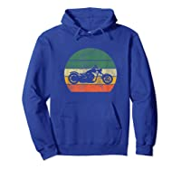 Biker Retro T-shirt Colorful Vintage Gift Idea Hoodie Royal Blue