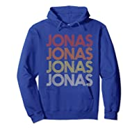 Jonas First Given Name Pride Vintage Style T Shirt Hoodie Royal Blue