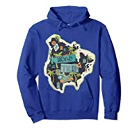 Road Trip 2019 Family Summer Vacation Hippie Van Surf Gift Zip Shirts Hoodie Royal Blue