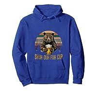 Shuh Duh Fuh Cup Bear Drinking Beer Camping Funny Tank Top Shirts Hoodie Royal Blue