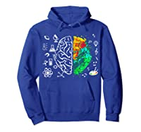Colorful Brain Science And Art Love Science Art Gifts T Shirt Hoodie Royal Blue
