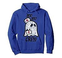 Vintage Boo Boo Crew Funny Halloween Ghost Nurse Nursing Shirts Hoodie Royal Blue