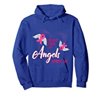 I Believe There Are Angels Among Us Breast Cancer Awareness T Shirt Hoodie Royal Blue