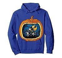 Funny Pumpkin Vintage Halloween Pumpkin Costume Shirts Hoodie Royal Blue