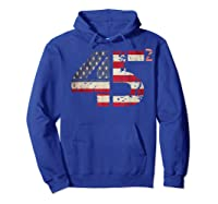 Trump 45 Squared 2020 Second Presidential Term Gift Shirts Hoodie Royal Blue