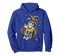 Joker Playing Card Halloween Costume Wild Card Shirts Hoodie Royal Blue