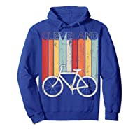 Retro Vintage Cleveland City Cycling Shirt For Cycling Lover Hoodie Royal Blue
