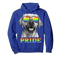 Labrador Gay Pride Lgbt Rainbow Flag Sunglasses Funny Lgbtq Shirts Hoodie Royal Blue