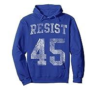 Resist Impeach 45 Anti Trump T Shirt Hoodie Royal Blue