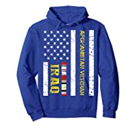 Proud Iraq Afghanistan Veteran Flag Gifts For Veteran Day T Shirt Hoodie Royal Blue