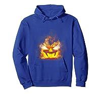 Happy Halloween Pumpkin Face Cartoon Funny Shirts Hoodie Royal Blue