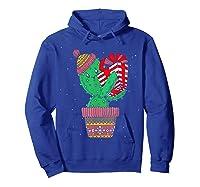 Cactus Christmas Tree Gift Santa Xmas Succulent Plant Lover T-shirt Hoodie Royal Blue