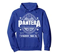 Pantera Stronger Than All Beer Mat Shirts Hoodie Royal Blue