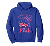 In October We Wear Pink Truck And Pumpkin Breast Cancer Tank Top Shirts Hoodie Royal Blue