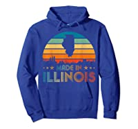 Vintage Made In Illinois Shirts Hoodie Royal Blue