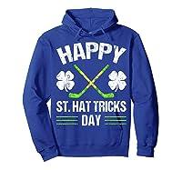 Saint Hattrick S Hockey St Patrick S Day Shamrock T Shirt Hoodie Royal Blue