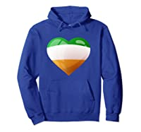 Cute Heart Ireland Flag Celtic Saint Patrick Day T Shirt Hoodie Royal Blue