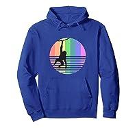 Retro Monkey Gay Pride Vintage 80s Rainbow Color Animal Gift Shirts Hoodie Royal Blue