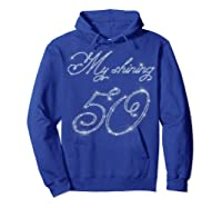 50th Birthday Gift Retro Vintage Shirt - My Shining 50 Hoodie Royal Blue