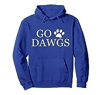 Go Dawgs Fun Shirts Hoodie Royal Blue