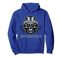 Indianapolis Football Helmet Sugar Skull Day Of The Dead T Shirt Hoodie Royal Blue