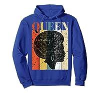 African American Queen T Shirt Black History Urban Soul Tees Hoodie Royal Blue