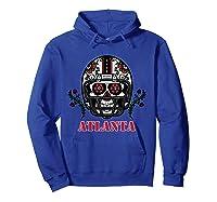 Atlanta Football Helmet Sugar Skull Day Of The Dead T Shirt Hoodie Royal Blue