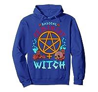 Radical Feminist Witch Pentagram Wiccan Resist Impeach T Shirt Hoodie Royal Blue