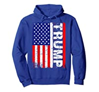 Donald Trump 2020 Vintage Usa Flag Shirts Hoodie Royal Blue
