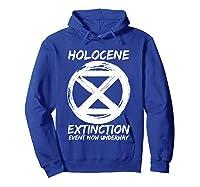 Holocene Mass Extinction Event Symbol Climate Change Science T Shirt Hoodie Royal Blue