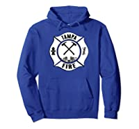 Tampa Fire Rescue Departt Florida Firefighters Uniform Shirts Hoodie Royal Blue