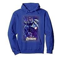 Marvel Avengers Endgame War Machine Galactic Poster T-shirt Hoodie Royal Blue
