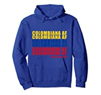 Colombiana Af Colombia Flag Colombian Roots T-shirt Hoodie Royal Blue
