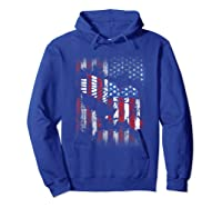 American Flag Eagle For Proud Americans On 4th July Shirts Hoodie Royal Blue