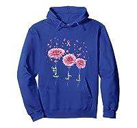 Faith Hope Love Pink Daisy Flower Breast Cancer Awareness T Shirt Hoodie Royal Blue