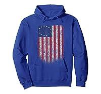 Betsy Ross Shirt 4th Of July American Flag Tshirt Hoodie Royal Blue