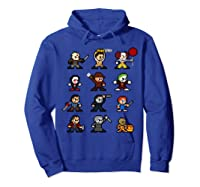 Friends Pixel Halloween Icons Scary Horror Movies Shirts Hoodie Royal Blue