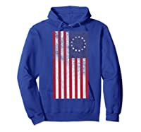 Vintage Retro Betsy Ross Shirt 4th Of July American Flag T Shirt Hoodie Royal Blue