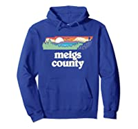 Meigs County Tennessee Outdoors Retro Nature Graphic T Shirt Hoodie Royal Blue