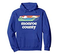 Monroe County Tennessee Outdoors Retro Nature Graphic T Shirt Hoodie Royal Blue