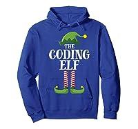 Coding Elf Matching Family Group Christmas Party Pajama Shirts Hoodie Royal Blue