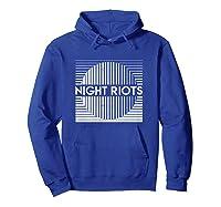 Night Riots Title Shirts Hoodie Royal Blue